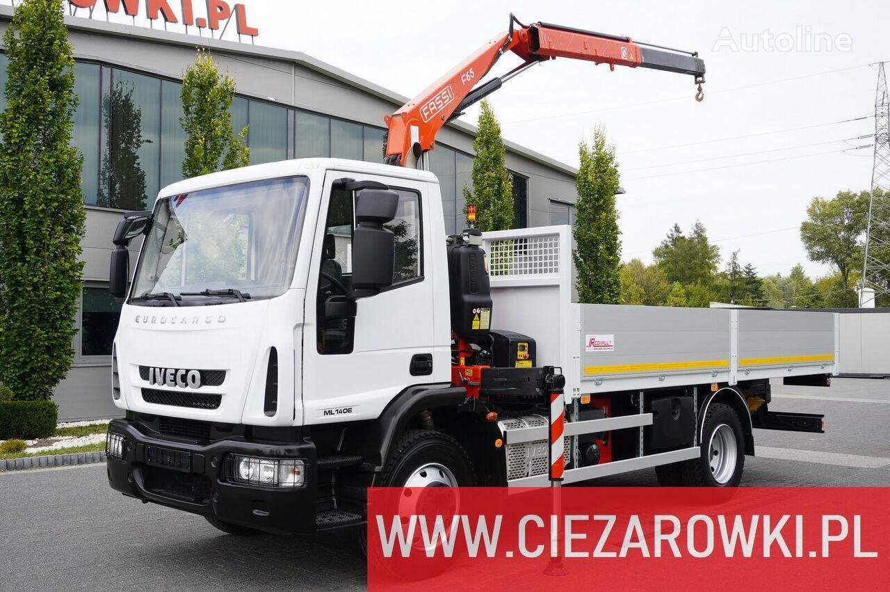 бортовой грузовик IVECO Eurocargo 140E 19K , E6 , 4x2 , 70k km , box 5,5m Crane Fassi F6