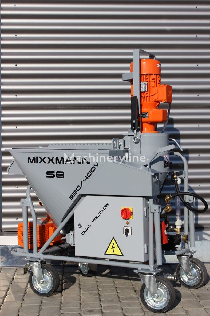 новая штукатурная машина MIXXMANN S8 230/400V