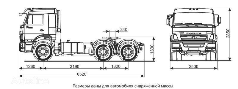 новый тягач КАМАЗ Седельный тягач КАМАЗ-65116 (6х4)